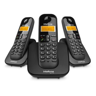 Telefone Sem Fio Intelbras TS 3113 com Identificador de Chamadas e Agenda para 70 Contatos, Preto - 4123103
