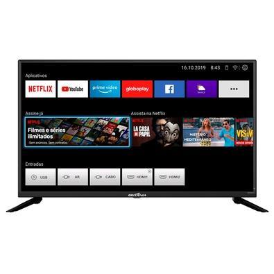 Smart TV Britânia 39´ LED HD, 2x HDMI, com WiFi, Netflix e Loja de Aplicativos, Preto - BTV39G60N5CH
