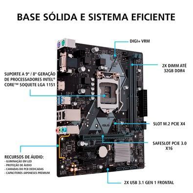 Computador Gamer PCMIX Intel Core i3 9100, 16GB DDR4, SSD 480GB, Windows 10 - CPU L4100W