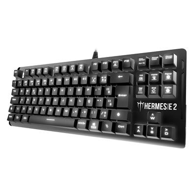 Teclado Mecânico Gamer Gamdias Hermes E2, LED Branco, Swith Huano Red, Layout ABNT2, Preto - HERMES E2 BR-RED