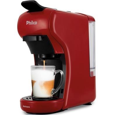 KIT Cafeteira Philco Multicápsula, 600ml, 1450W, 110V - PCF19VP + Pipoqueira Philco Classic Retrô, 110V, Vermelho/Branco - 52551003