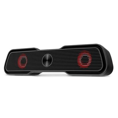 Soundbar Gamer Multilaser, Audio 2.0, 15W RMS, LED, USB/P2,Plug And Play, Preto - SP953