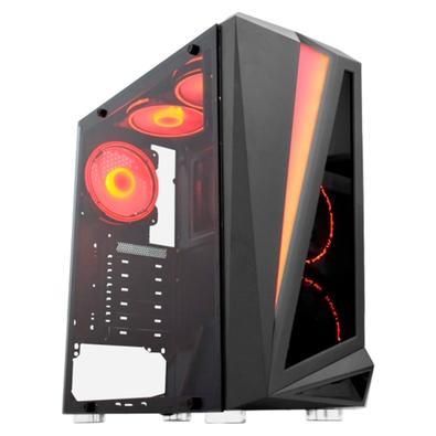 Computador Gamer NTC VULCANO II Powered By Asus AMD Ryzen 5 2400G, 8GB RAM, SSD 240GB, RGB, Linux, Preto - Ntc VULCANO II 7168