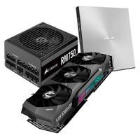 Kit Placa de Vídeo NVIDIA RTX 3070 Ti,19 Gbps, 8GB GDDR6X, Ray Tracing + Fonte Corsair RM750, 750W + Drive Gravador CD/DVD ZenDrive Ultra-Slim