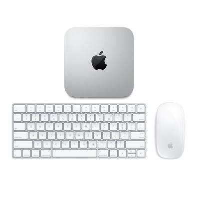 Mac Mini Apple Processador M1, 8GB, SSD 512GB, MacOS, Prata - MGNT3BZ/A + Teclado e Mouse Magic Apple para Mac, Bluetooth e Conector Lightning