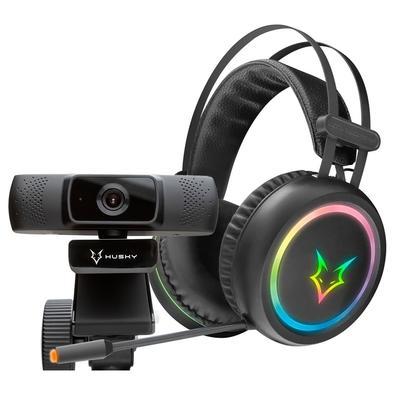 Kit Headset Gamer Husky Gaming Polar + Webcam Husky Storm