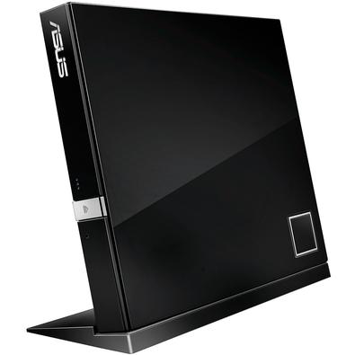 Drive ASUS Gravador Externo Slim de CD/DVD/Blu-Ray e Leitor de CD/DVD/Blu-Ray - SBW-06D2X-U/BLK/G/AS