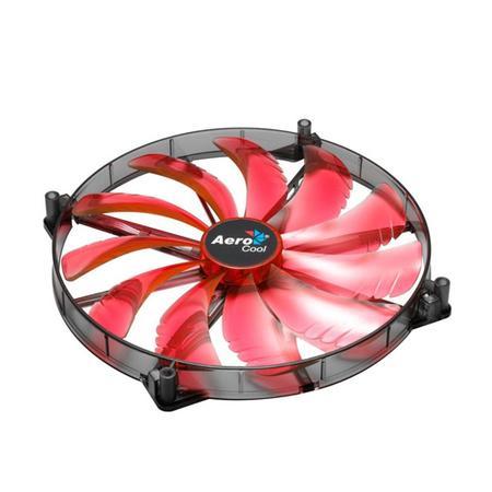 Cooler FAN AeroCool Silent Master Quad Red LED 200mm Sleeve Bearing EN55659