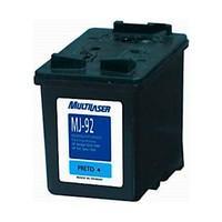 Cartucho de Tinta Multilaser MJ-92 para HP, Preto - CO092
