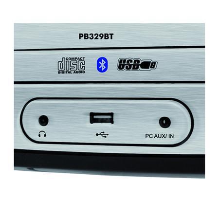 Rádio Portátil Philco - Bluetooth, CD, MP3, USB, Aux. e FM Controle Remoto 15W RMS Bivolt Preto/Branco - PB329BT 056603106