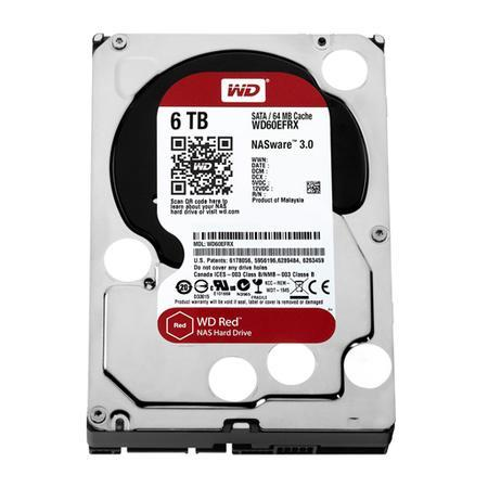 HD WD SATA 3,5´ RED NAS 6TB 5400RPM 64MB Cache SATA 6.0Gb/s - WD60EFRX