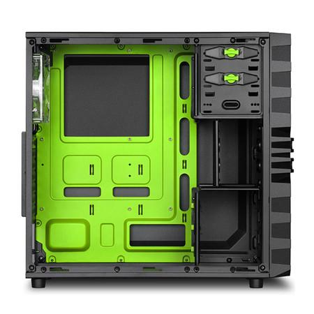 Gabinete Sharkoon ATX VG4-W Green