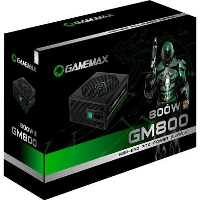Fonte Gamemax 800W 80 Plus Bronze Semi-Modular - GM800 BK
