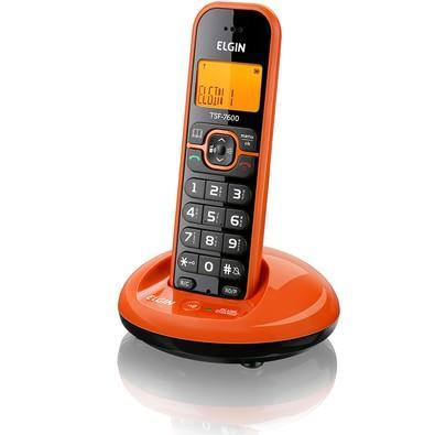 Telefone Elgin sem Fio c/ Identificador Laranja - TSF7600