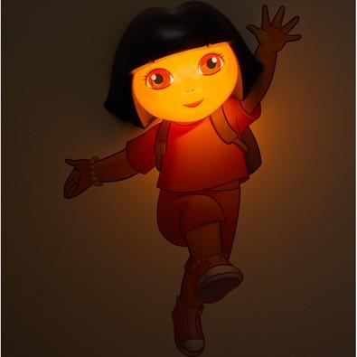 Luminária De Parede Geek 3D Light Fx Rosto da Dora