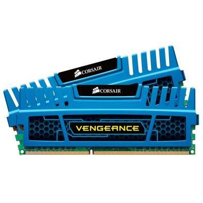 Memória Ram Vengeance Blue 16gb Kit(2x8gb) Ddr3 1600mhz Cmz16gx3m2a1600c10b Corsair