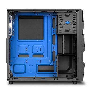 Gabinete Sharkoon ATX USB 3.0  Fan LED 120mm VG5-W Blue