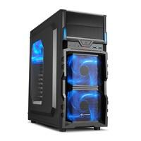 Gabinete Sharkoon ATX USB 3.0  Fan LED 120mm VG5-W Blue