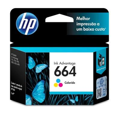 Cartucho de Tinta HP Ink Advantage 664, Colorido - F6V28AB