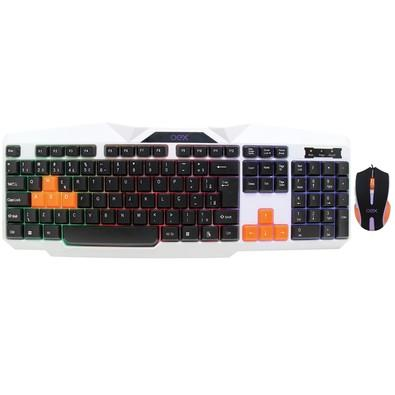Teclado e Mouse Gamer Oex Ice USB Multimídia TM300