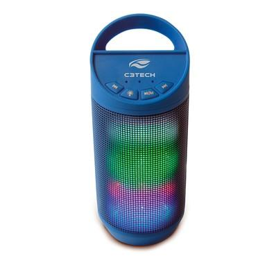 Caixa de Som C3 Tech BEAT Bluetooth LED Portátil 8W RMS Azul - SP-B50BL