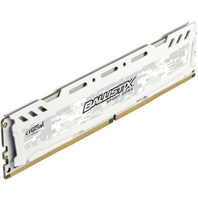 Memória Crucial Ballistix Sport LT, 16GB, 2400MHz, DDR4, CL16, Branco - BLS16G4D240FSC