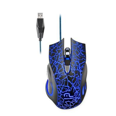 Mouse Gamer Multilaser 2400DPI 6 Botões Preto com LED  - MO250