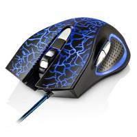Mouse Gamer Multilaser 3200DPI 6 Botões Preto com LED  - MO250