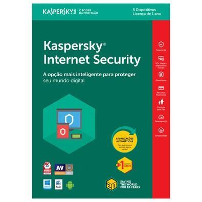 Kaspersky Internet Security 2018 Multidispositivos 5 PCs - Digital para Download