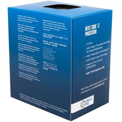 Processador Intel Core i7-7700 Kaby Lake, Cache 8MB, 3.6GHz (4.2GHz Max Turbo), LGA 1151 - BX80677I77700