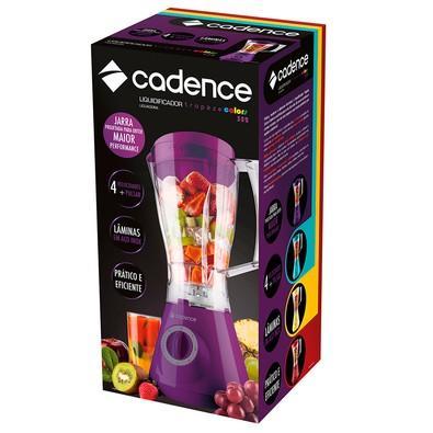 Liquidificador Cadence Trapèze Colors, 350W, 4 Velocidades, 1.5 Litros, Lâmina Inox, 220V, Roxo - LIQ352
