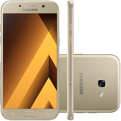 Smartphone Samsung Galaxy A5 2017, Dual Chip, Octa Core, Android 6.0, Tela Super Amoled 5.2, 32gb, 16mp Desbloq - Dourado
