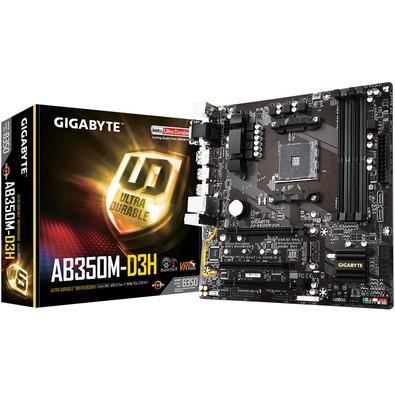 Placa-Mãe Gigabyte GA-AB350M-D3H, AMD AM4, mATX, DDR4