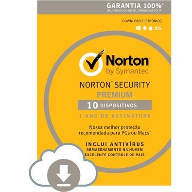 Norton Security 10 Dispositivos 12 Meses - Digital para download