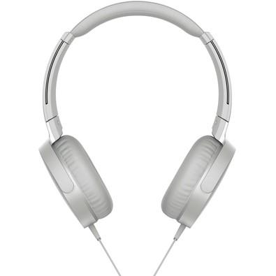 Headphone Sony Branco MDRXB550AP/W