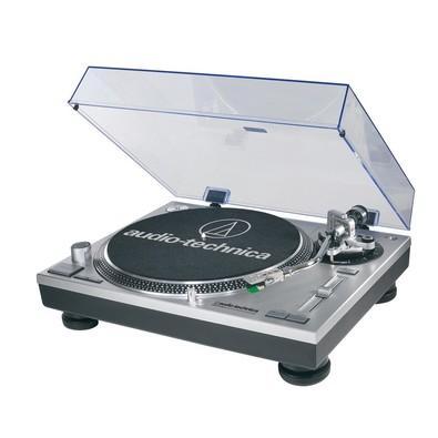 Toca Discos Audio-Technica Acionamento Direto, USB, Sistema de Conversão LP para Áudio Digital, Bivolt, Prata - AT-LP120-USB