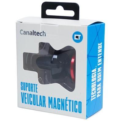 Suporte Veicular Magnético CanalTech - Vermelho -7803