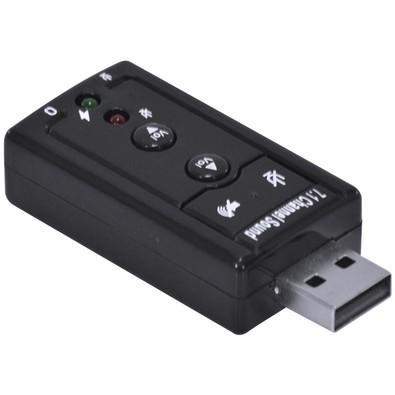 Adaptador de Som Vinik USB 7.1 Canais Virtual AUSB71