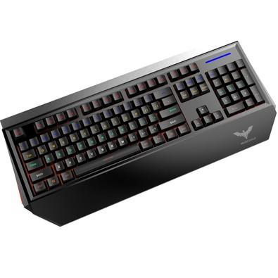 Teclado Mecânico Gamer Havit RGB, Switch Outemu Blue, RGB, ABNT2 - HV-KB370L