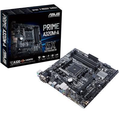 Placa-Mãe Asus Prime A320M-A, AMD AM4, mATX, DDR4