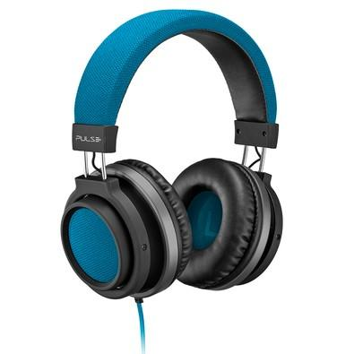 Headphone Pulse P2 Preto e Azul PH228
