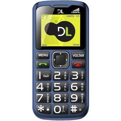 Celular DL YC-120, Tela 1.77´, Rádio FM, Função SOS, Dual Chip, Desbloqueado - Azul