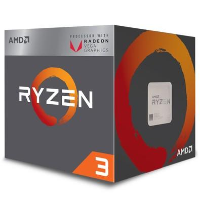 Processador AMD Ryzen 3 2200G, Cooler Wraith Stealth, Cache 6MB, 3.5GHz (3.7GHz Max Turbo), AM4 - YD2200C5FBBOX