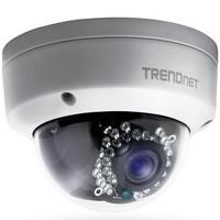Câmera Dome Trendnet IP 25M PoE Full HD 3MP Metal TV-IP311PI Branca