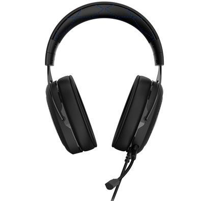 Headset Gamer Corsair P2 Stereo 2.0 Preto e Azul HS50 - CA-9011172
