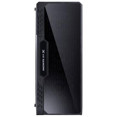 Gabinete Gamer Vinik Lumia Preto com 7 Cores de LED 3 FANS RGB e Lateral em Acrílico 09GALM7-3RGB