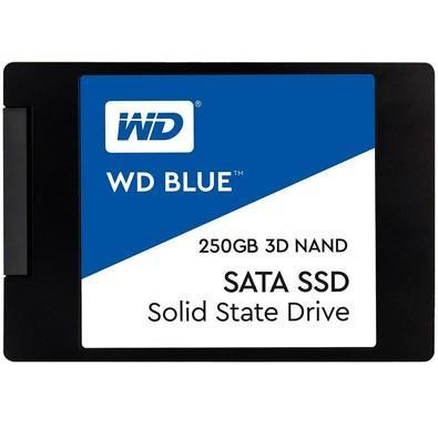 SSD WD Blue, 250GB, SATA, Leitura 550MB/s, Gravação 525MB/s - WDS250G2B0A