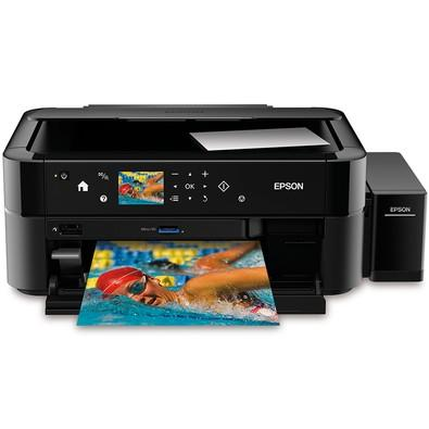 Multifuncional Epson Fotográfica Jato de Tinta Colorida de 6 cores com Sistema Tanque de Tinta - L850