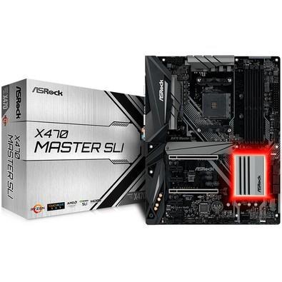 Placa-Mãe ASRock p/ AMD AM4 X470 MASTER SLI DDR4