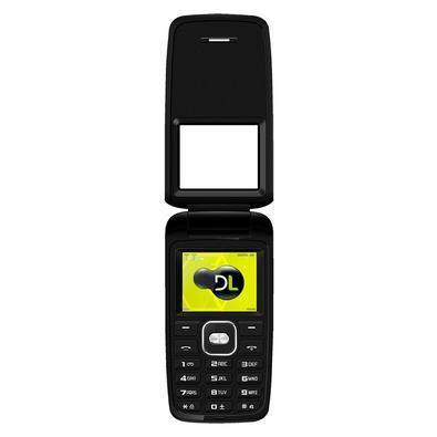 Celular DL YC-330 Flip, Tela 1.8´, Radio FM, Câmera, Memória Expansível 32GB, Desbloqueado, Dual Chip - Preto